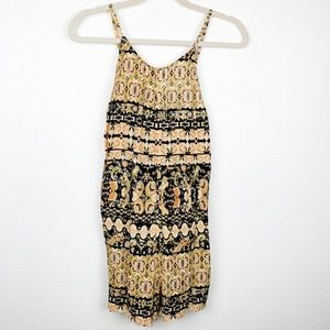 NWT Urban Outfitters Paisley Print Tassle Romper